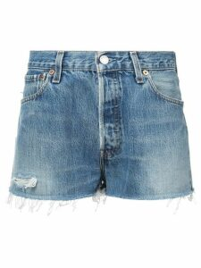 RE/DONE faded shorts - Blue