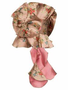 Johanna Ortiz Fairy tale ruffled silk blend top - NEUTRALS