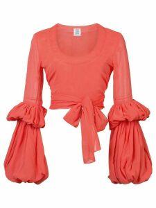 Rosie Assoulin Juliet sleeve blouse - PINK
