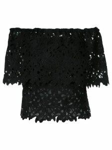 Bambah floral lace patterned off-shoulder top - Black