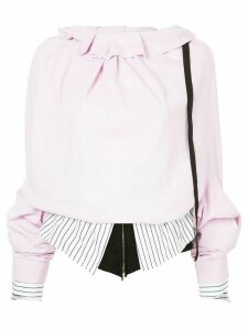 Aganovich layered oversized sleeve top - PINK