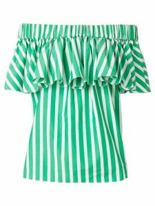 Maison Rabih Kayrouz striped off-shoulder blouse - Green