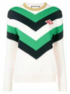 Gucci colour block knit sweater - NEUTRALS