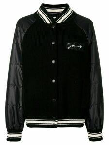Givenchy ribbed panel bomber jacket - Black