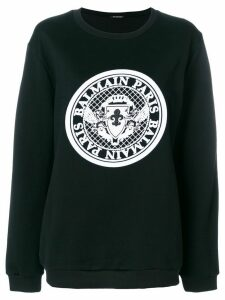 Balmain logo medallion sweatshirt - Black