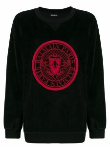 Balmain graphic sweatshirt - Black