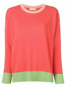 Etro bicoloured knit sweater - ORANGE