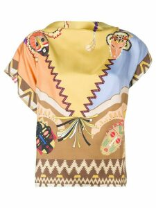 Etro printed blouse - Black