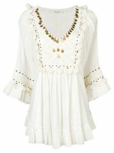 Mes Demoiselles tassel embellished blouse - NEUTRALS