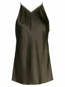 Rosetta Getty crossed back blouse - Brown