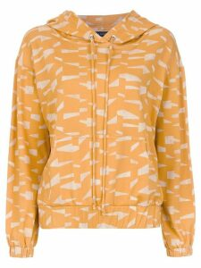 Andrea Marques printed hoodie - ORANGE