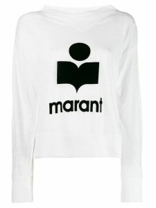 Isabel Marant Étoile logo print sweatshirt - White