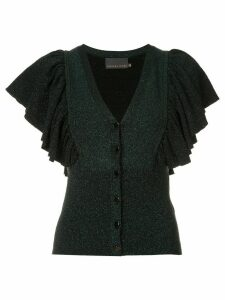 Ginger & Smart tincture metallic knit cardigan - Green