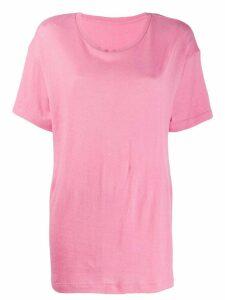 The Elder Statesman oversized knitted T-shirt - PINK