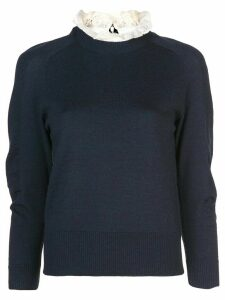 Sea double neck jumper - Blue