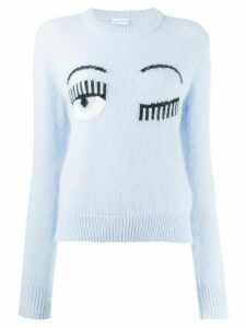 Chiara Ferragni logo knit sweater - Blue