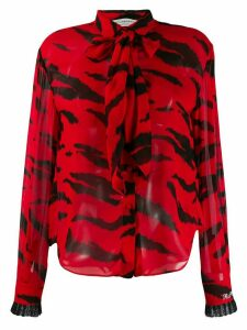 Philosophy Di Lorenzo Serafini printed bow blouse - Black