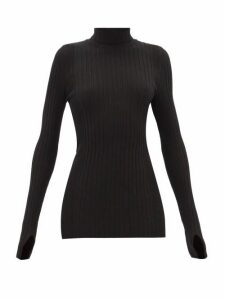 Paco Rabanne - Ribbed Cotton-blend Roll-neck Sweater - Womens - Black