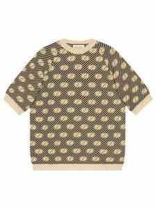 Gucci Striped GG jacquard wool sweater - NEUTRALS
