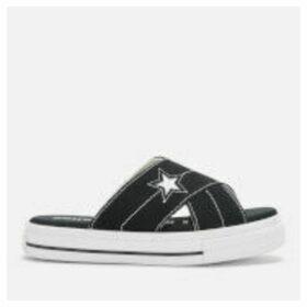 Converse Women's One Star Slip Sandal - Black/Egret/White - UK 8 - Black
