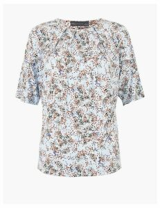 M&S Collection Printed Short Sleeve Top
