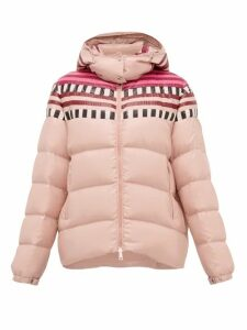 1 Moncler Pierpaolo Piccioli - Evelyn Colour-block Down-filled Hooded Jacket - Womens - Light Pink