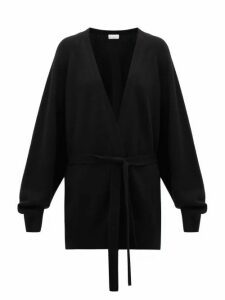 Raey - Shawl Belted Cashmere Cardigan - Womens - Black