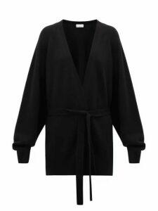 Raey - Shawl Belted Cashmere Cardigan - Womens - Black
