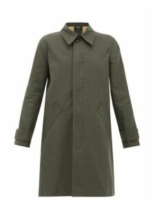 A.P.C. - Louise Checked Cotton Overcoat - Womens - Dark Green