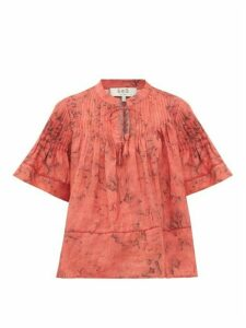 Sea - Mimi Pintucked Voile Top - Womens - Red Print