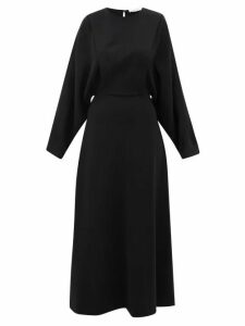 The Row - Cobai Panelled Silk And Crepe Maxi Dress - Womens - Black