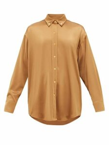 Sies Marjan - Kiki Oversized Satin Shirt - Womens - Brown