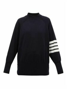 Thom Browne - Four-bar Buttoned Cotton Sweater - Womens - Navy