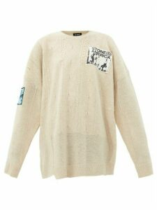 Raf Simons - Oversized Merino Wool Sweater - Womens - Beige