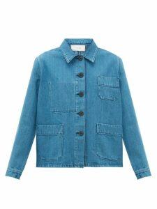 The Row - Kurt Patch-pocket Denim Jacket - Womens - Mid Blue