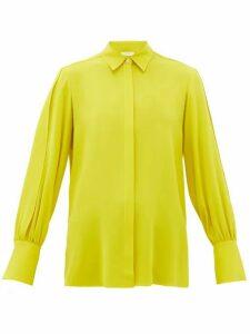 The Row - Oni Silk-crepe Shirt - Womens - Yellow