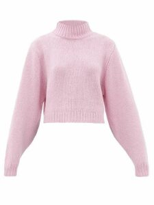 The Row - Tabeth Cropped Cashmere Sweater - Womens - Pink