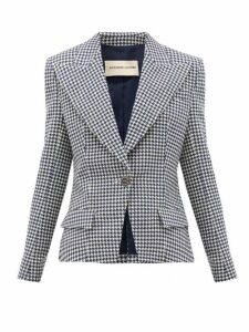 Alexandre Vauthier - Houndstooth Cotton-blend Jacket - Womens - Navy White