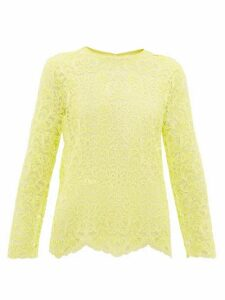 Marques'almeida - Scalloped-hem Lace Top - Womens - Yellow