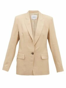 Frame - Single-breasted Linen-blend Blazer - Womens - Beige