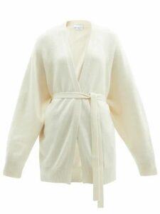 Raey - Shawl Belted Cashmere Cardigan - Womens - Ivory