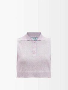 Raey - Rivet Cut-off Denim Shorts - Womens - Light Blue