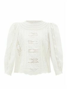 Sea - Lea Guipure-lace Cotton Blouse - Womens - White