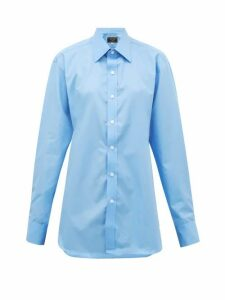 Emma Willis - Riviera Cotton-poplin Shirt - Womens - Light Blue