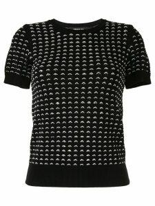 Paule Ka contrast knit jumper - Black