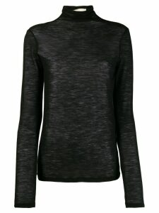 Semicouture turtleneck sheer jumper - Black