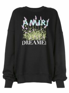 AMIRI Flower Dreamer crew sweatshirt - Black