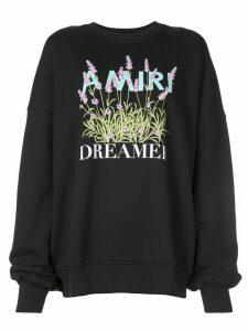 AMIRI Flower Dreamer crew sweatshirt - Black