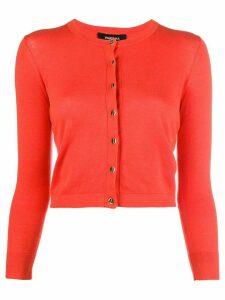 Paule Ka cropped slim-fit cardigan - Red