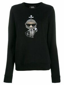 Karl Lagerfeld Karl's Treasure Knight sweatshirt - Black